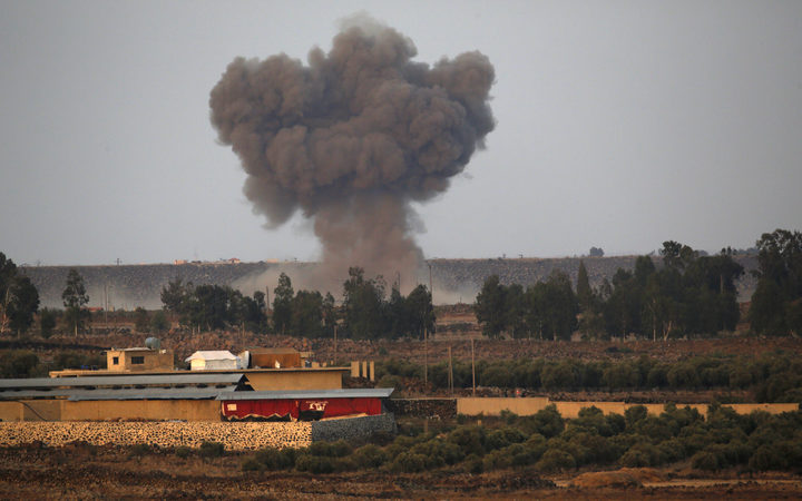Syrian fighter jet is shot down by Israel
