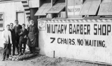 Featherston military barber.