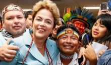 Brazilian president Dilma Rousseff and delegates planning the First World Indigenous Games
