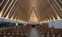 Cardboard cathedral in Christchurch