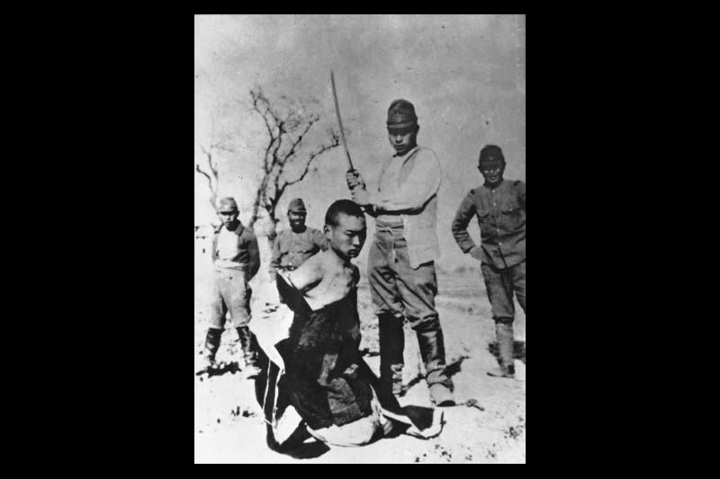 Full 800 a chinese pow about to be beheaded by a japanese officer with a shin gunto during the nanking massacre photo pd by wiki