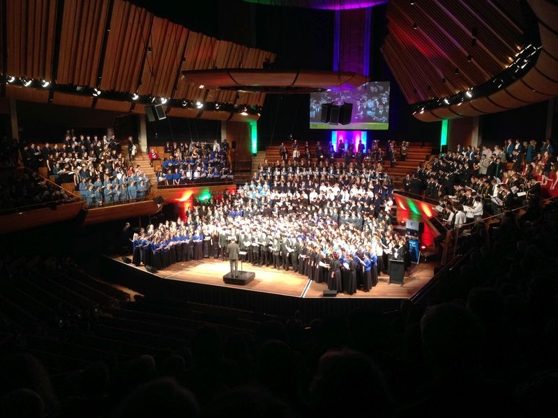 Full the massed choir during the 2015 finale photo rnz david mccaw
