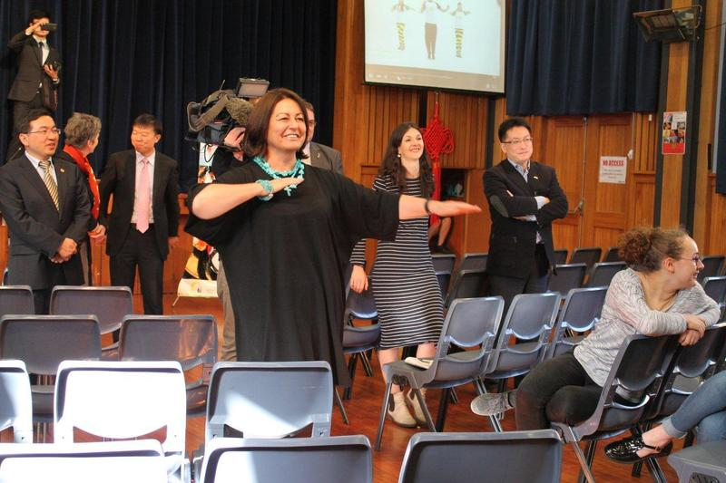 Full joining in  minister of education  hekia parata