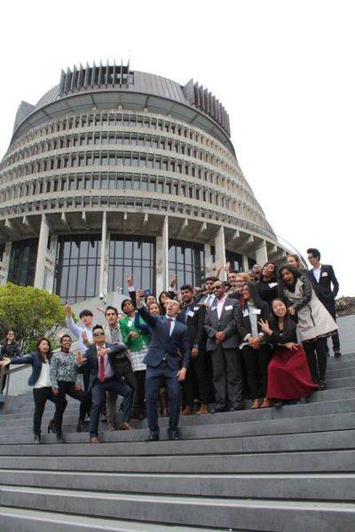 Full exuberant  young ethnic leaders at parliament 2015