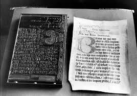 Gutenberg Printing Press Bible
