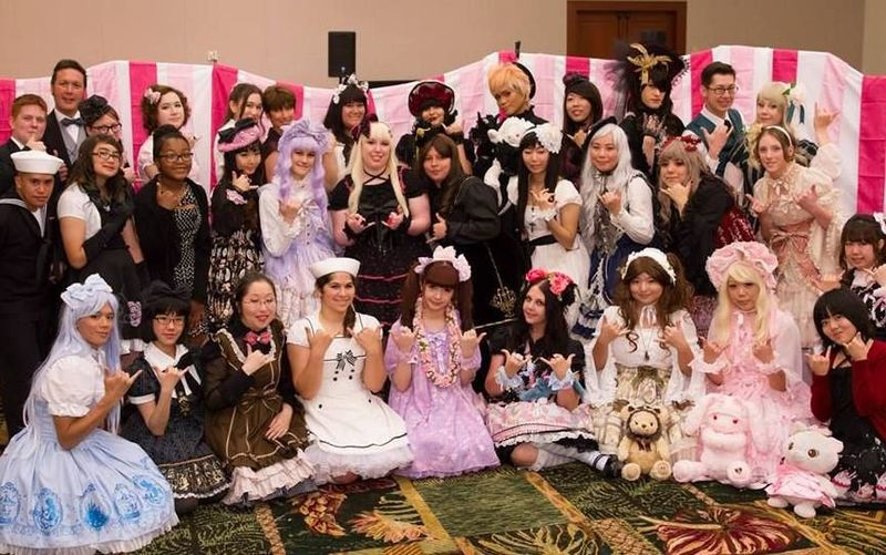 Full lolita high tea party meetup with misako aoki  kawaii ambassador of japan