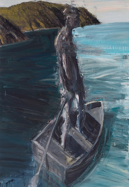 Full euan macleod  boatman 2 2005  oil on polyester 840 x 1200 x 40 mm %28h x w x d%29 private collection
