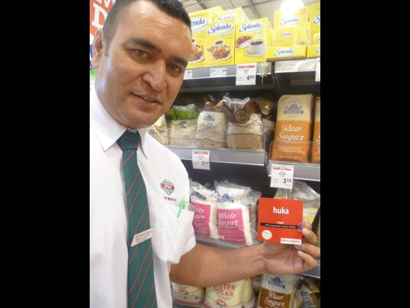 Full damon jakeman  manager tokoroa new world holding product signage