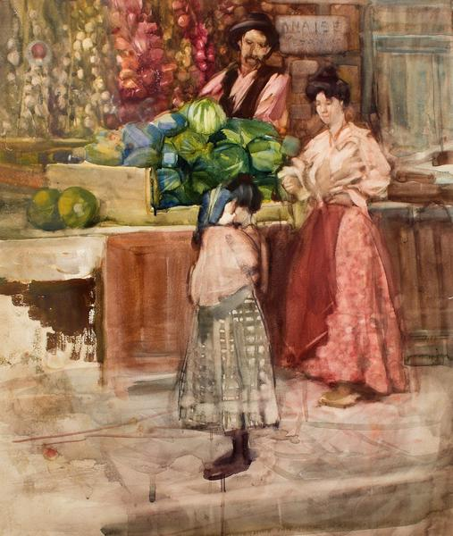 Full 1. frances hodgkins untitled   the watermelon seller  circa 1903