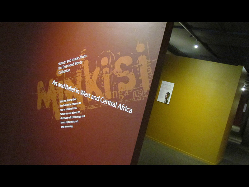 Full entrance to the exhibition  minkisi art and belief in west and central africa  at the whanganui regional museum