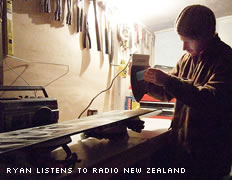 Ryan listens to Radio New Zealand