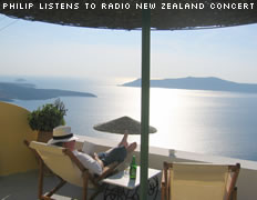 Philip listens to Radio New Zealand Concert
