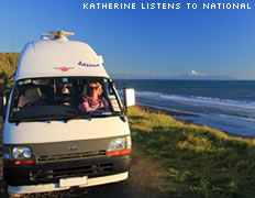 Katherine listens to National