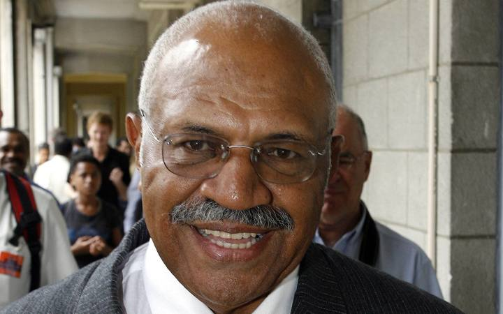 Former Fiji prime minister and two-time coup leader Sitiveni Rabuka.