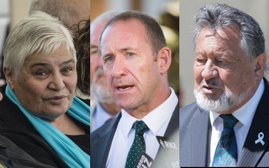 Tariana Turia (left) and Pita Sharples (right) are among those who have criticised Andrew Little (centre) for his comments.