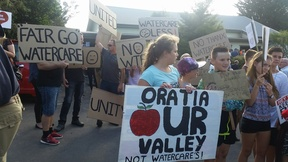 Residents in the West Auckland suburb of Oratia are vowing to fight a proposal to build a giant water treatment plant in their neighbourhood.