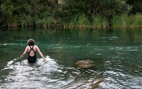 Swimming in a NZ river