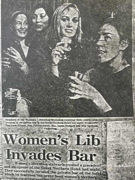 "Sue Kedgley on this newspaper article: ""Liberating a rather sleazy all-male bar""."