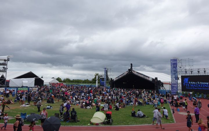 The stage and crowd space at Te Matatini.