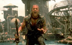 Kevin Costner in Waterworld.