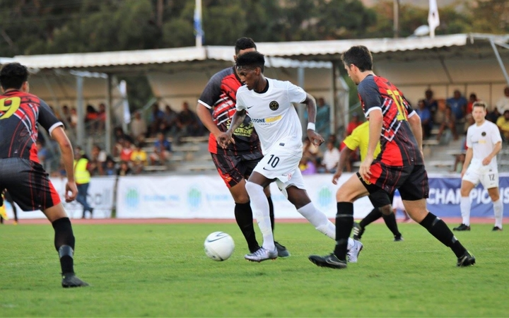 Nathanael Hailemariam scored twice for Team Wellington.