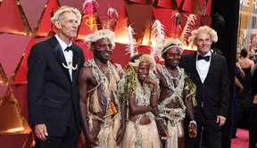 Nominees for Best Foreign Language Film  Tanna arrive on the red carpet for the 89th Oscars.