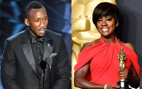Viola Davis has won best supporting actress for her role in Fences, and Mahershala Ali has won best supporting actor for his role in Moonlight.