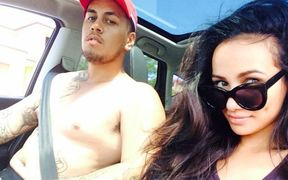 Tara Brown in a photo with Lionel Patea that she uploaded to Instagram before her death.