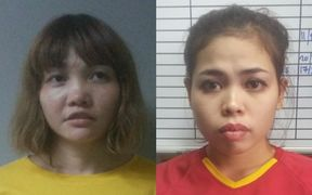 Doan Thi Huong, left, and Siti Aisyah have said they thought they were taking part in a TV prank.