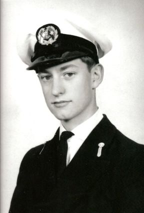 Peter Sledmere as a cadet in the Merchant navy 1960