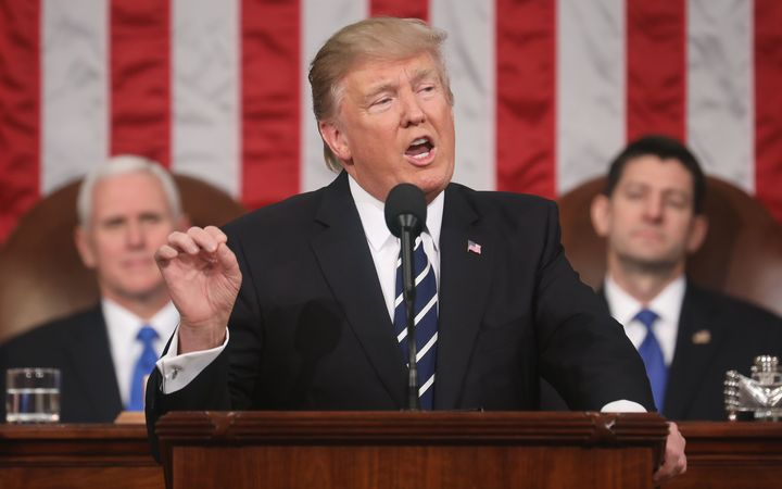 Donald Trump addresses Congress