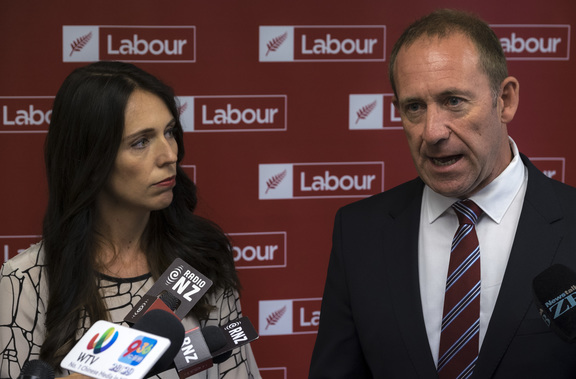 Jacinda Ardern and Andrew Little speak with media about Little nominating Ardern as Deputy Leader. Wednesday 01 March 2017