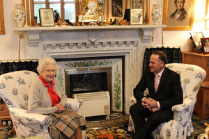 The Queen and John Key at Balmoral.