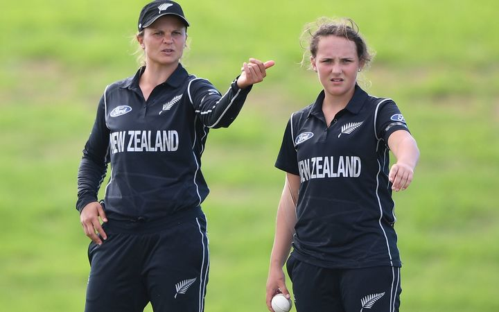 White Ferns captain Suzie Bater and legspinner Amelia Kerr discuss field settings.