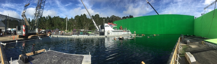 The film studio tanks where Meg was filmed in Kumeu, Auckland.
