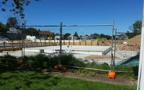 The Mount Albert building site at the centre of numerous noise complaints.