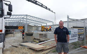 Whitestone Cheese chief executive Simon Berry on site at the factory expansion in Oamaru.