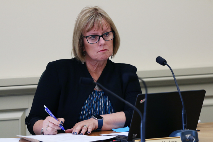 National MP for Taranaki-King Country, Barbara Kuriger listens to a submission to the Health Committee on a petition about medically-assisted dying.