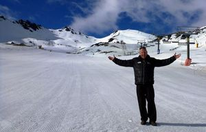 Ross Lawrence, of The Remarkables ski area, is happy about the spring conditions.