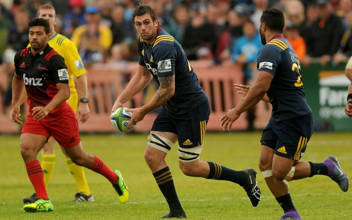 Highlanders and All Black loose forward Liam Squire.