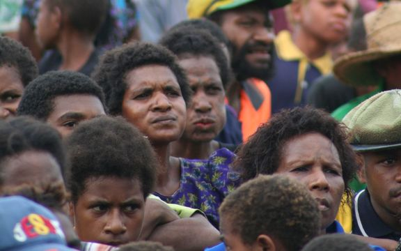 Crowd at an election rally in East Sepik, Papua New Guinea.