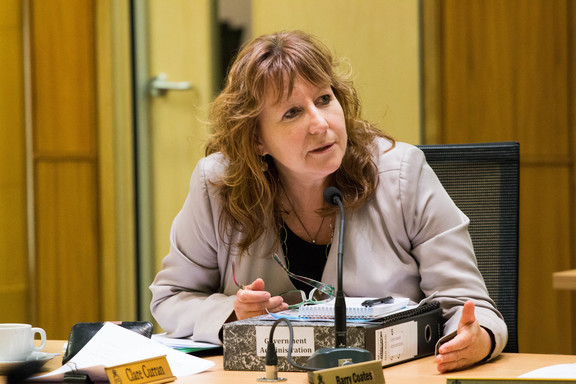 Labour MP for Dunedin South Clare Curran hears submissions to an inquiry on captioning in New Zealand.