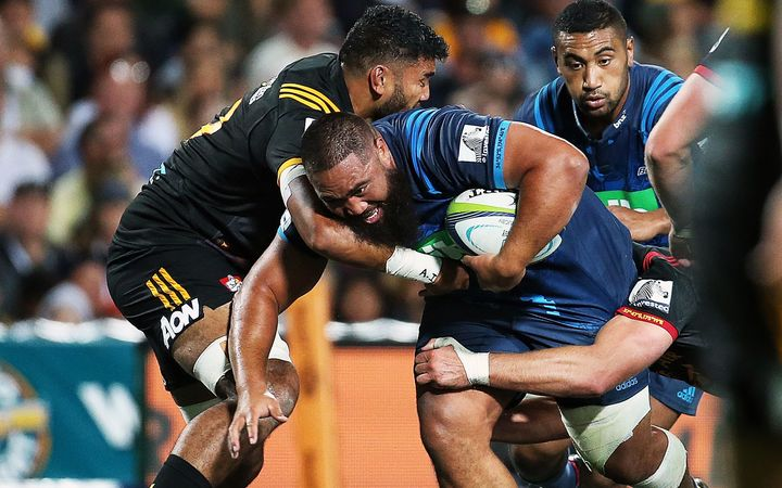 Charlie Faumuina in action for the Blues 2017.