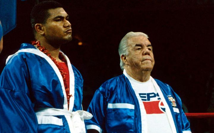 David Tua and Lou Duva in 1993.
