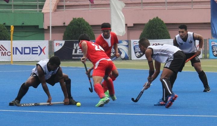 Fiji were no match for China at the Hockey World League.