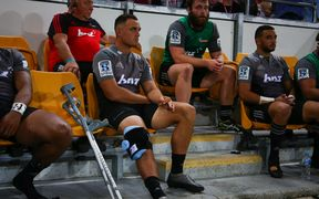Israel Dagg injured playing against the Reds.