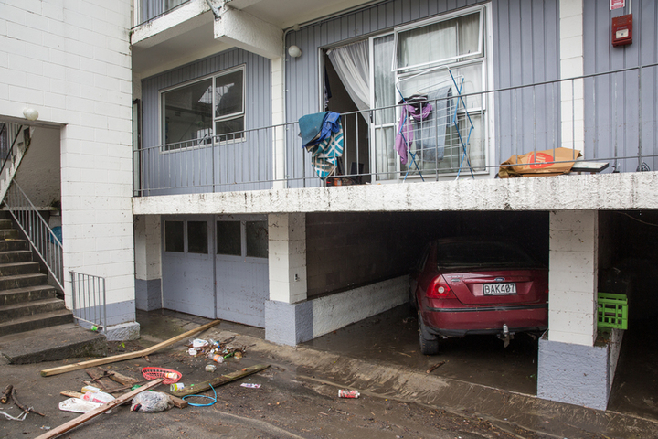 Damage to flats on Great North Rd
