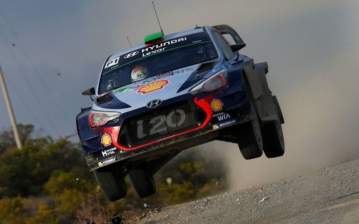 Hayden Paddon during the Rally of Mexico.