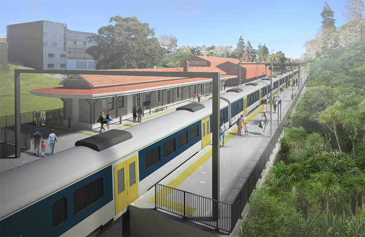 An artist's impression of Parnell Station.