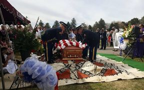 Former American Samoa Congressman Faleomavaega Eni Hunkin was laid to rest at the Provo Cemetery in Provo Utah